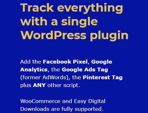Track all your social media advertising ads with a single WordPress marketing plugin