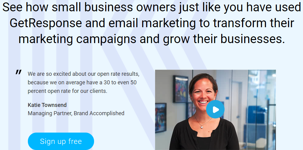 See how small business owners just like you used GetResponse